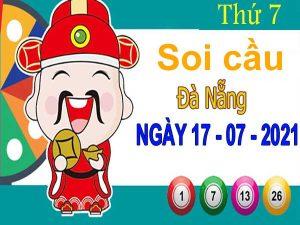 Soi cầu XSDNG ngày 17/7/2021 đài Đà Nẵng thứ 7 hôm nay chính xác nhất
