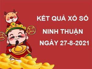 Soi cầu kết quả XS Ninh Thuận thứ 6 ngày 27/8/2021