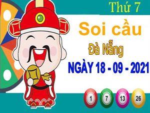 Soi cầu XSDNG ngày 18/9/2021 đài Đà Nẵng thứ 7 hôm nay chính xác nhất