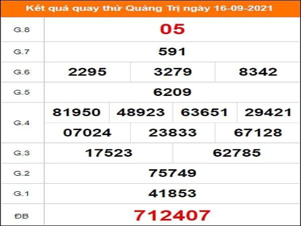 Quay thử xổ số Quảng Trị ngày 16/9/2021